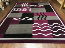 Modern Approx 9x7ft 270x220cm Woven Thick Rugs Sale Top Quality Black/Purple New